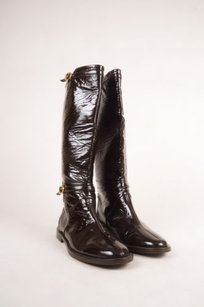 Jimmy Choo Brown Patent Boots