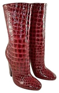 Jimmy Choo Burgundy Red Boots