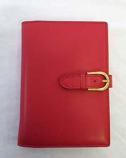 Jimmy Choo Jimmy Choo Red Notebook With Belted Snap Closure Dustbag -