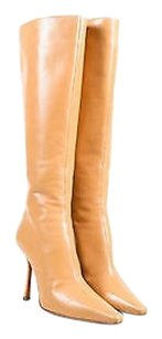 Jimmy Choo Nude Leather Beige Boots