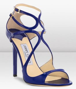 Jimmy Choo Lang Strappy Blue Sandals