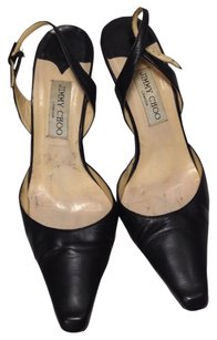 Jimmy Choo Leather Chic Classic Black Formal