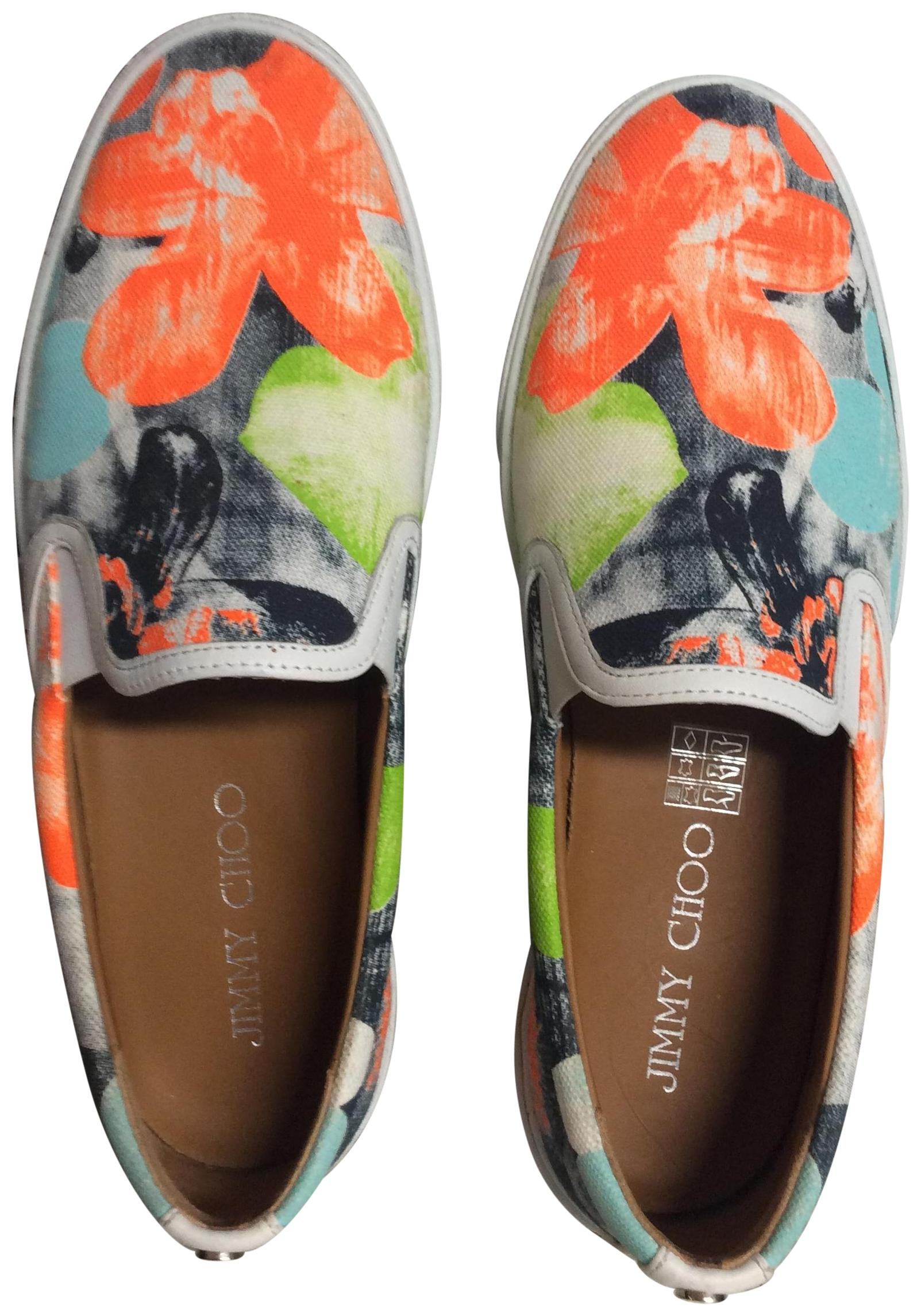 Jimmy Choo Multicolor Demi Neon Flame Slip-on Sneakers Sneakers Size US 8 Regular (M, B)