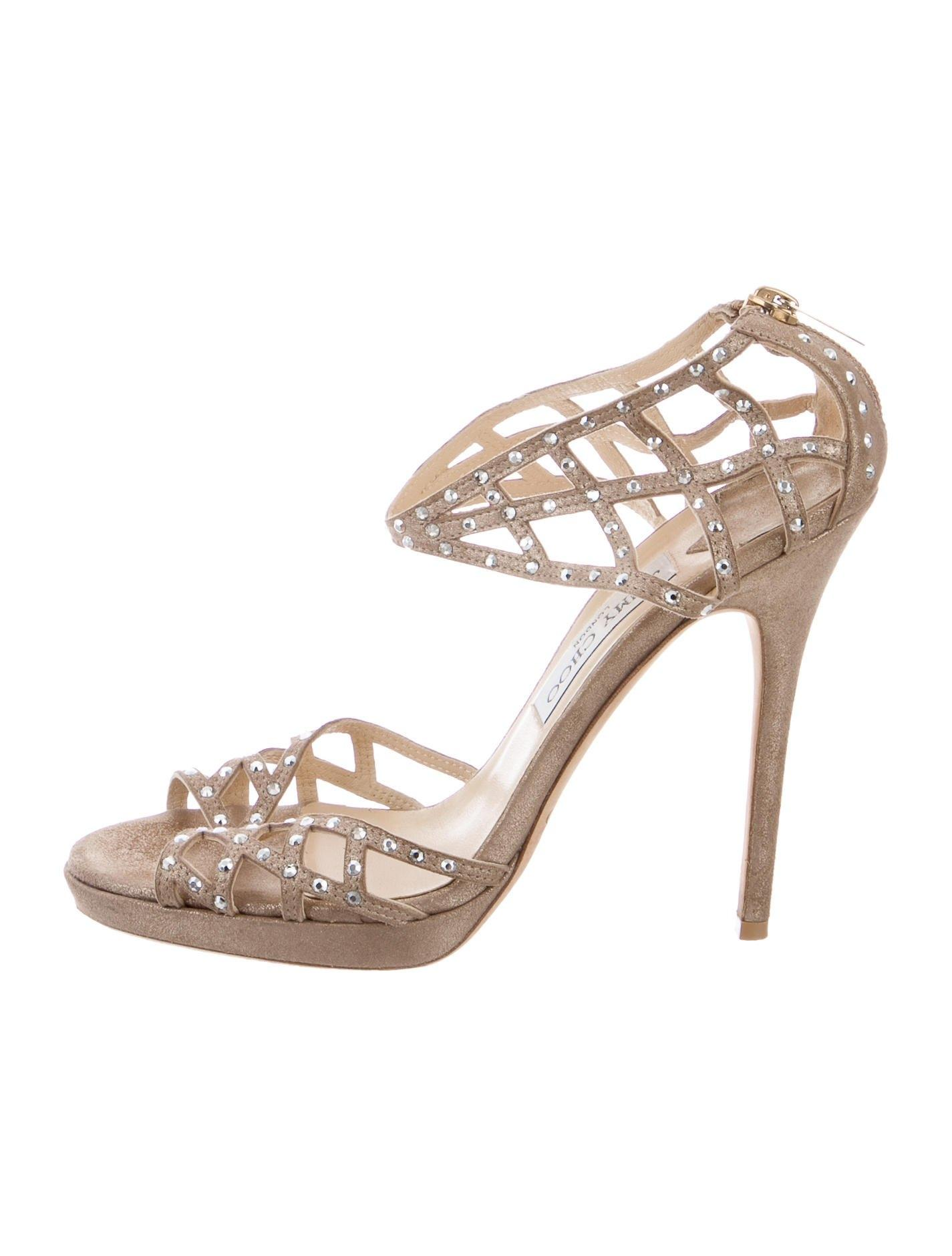 outlet collections clearance enjoy Jimmy Choo Embellished Multistrap Sandals YBWa6cGUQi
