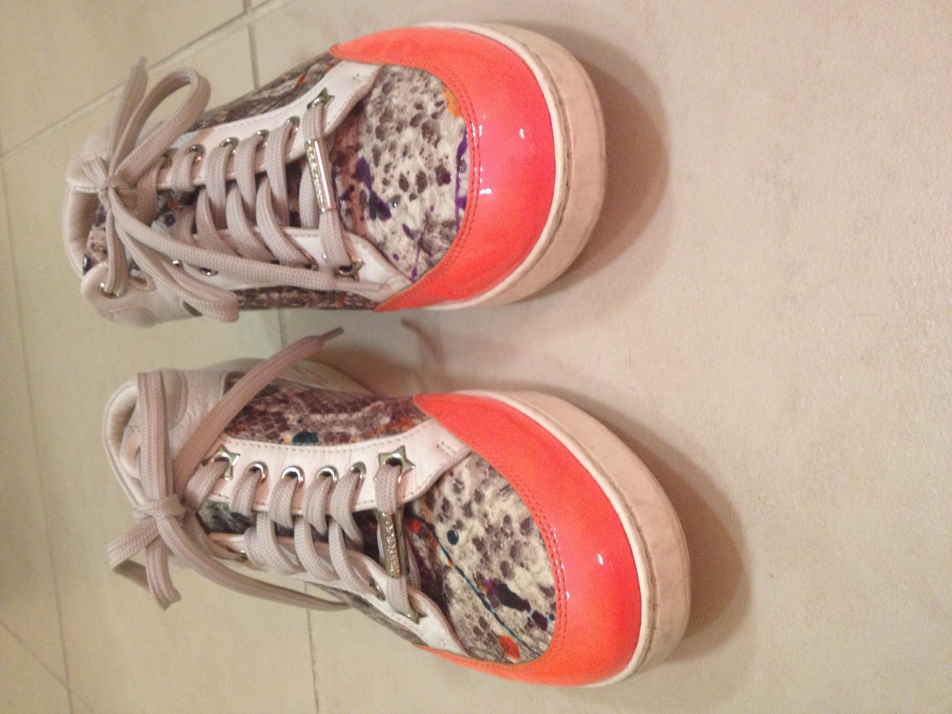 jimmy choo orange london   & & & # 039; s les baskets des baskets taille nous réguliers (m, b) 6,5 aeff0c