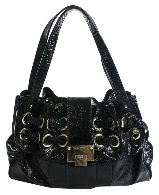 Jimmy Choo Patent Leather Riki Handbag Ramona Shoulder Bag
