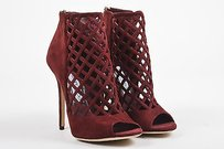 Jimmy Choo Maroon Suede Red Boots