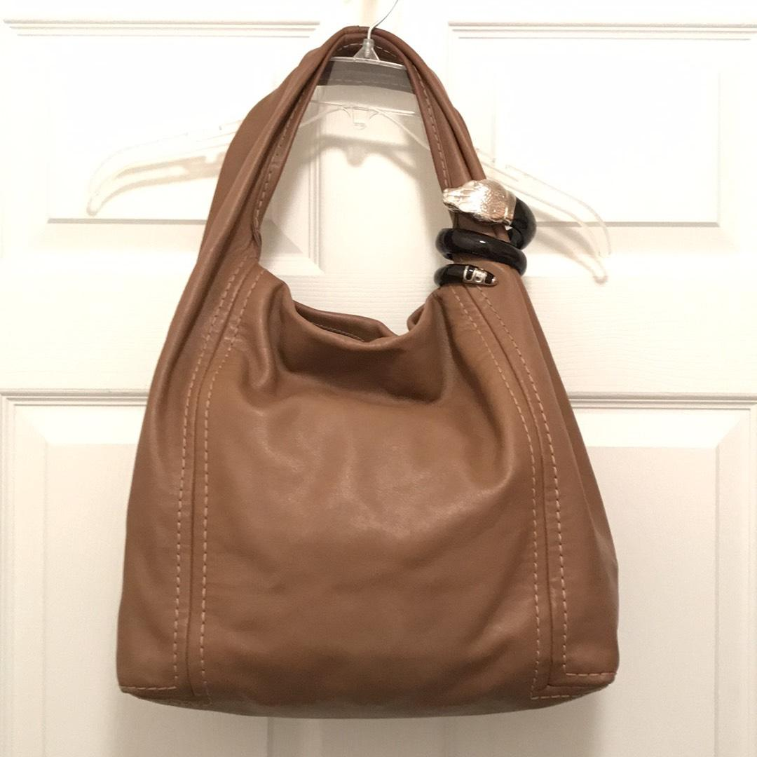 c6a73c50fb5e Jimmy choo saba soft supple brown silver leather hobo bag jpg 307x307 Jimmy  choo purses