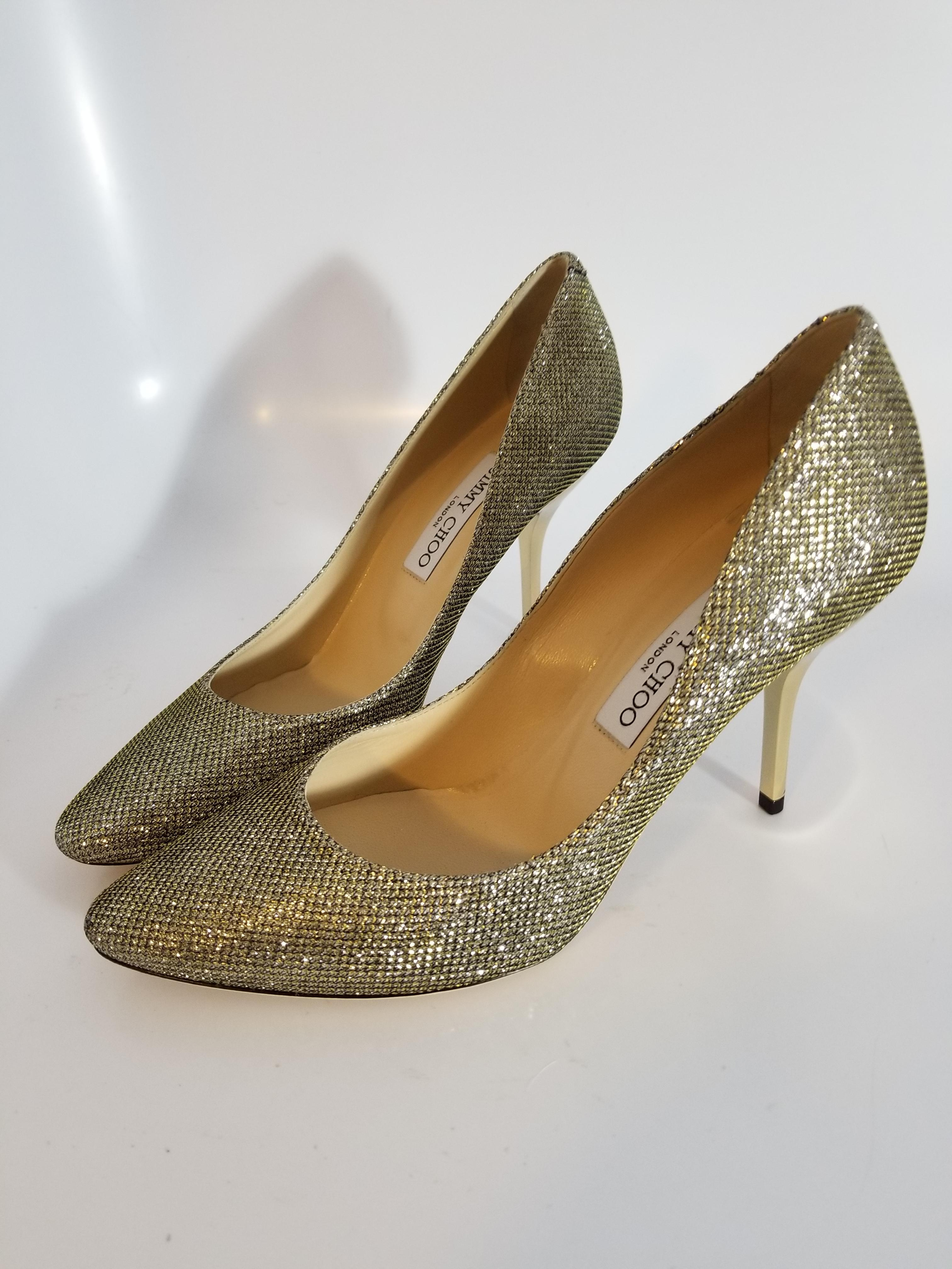 dff89dd39 ... Jimmy Choo Silver Silver Silver  romy  and Golden Shimmer - Pumps Size  EU 39 ...