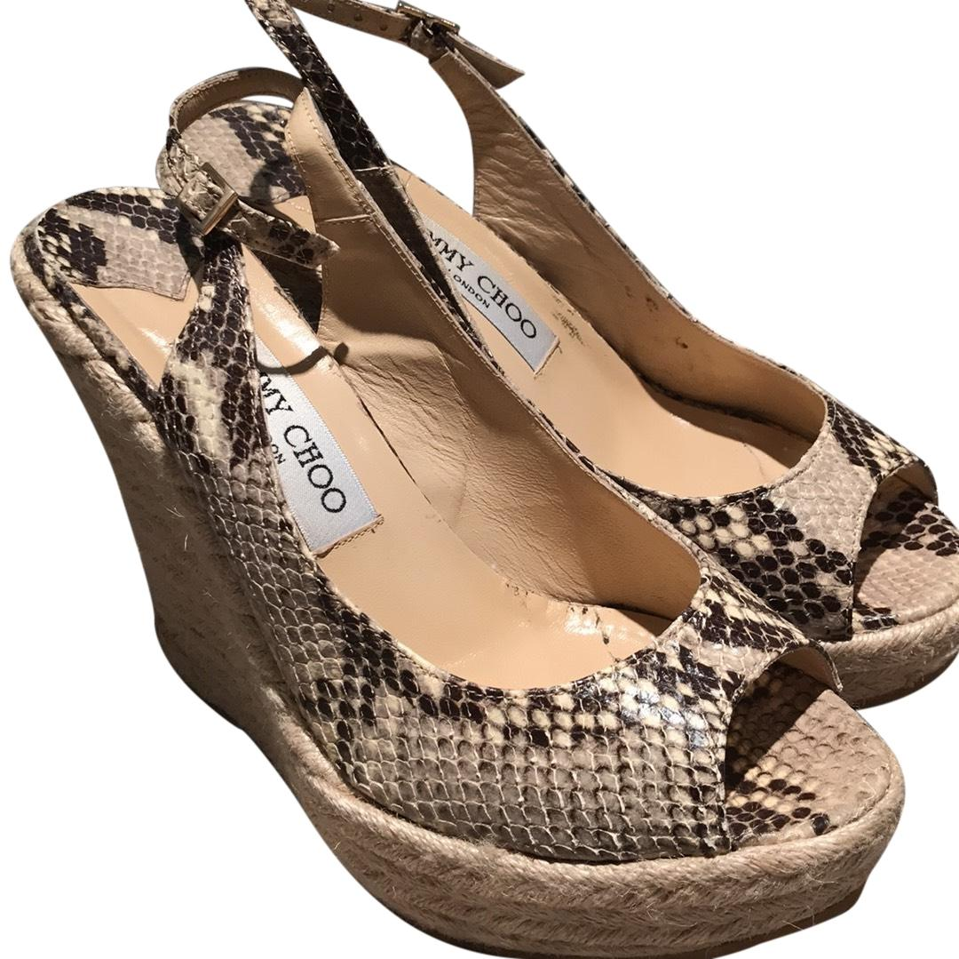 pay with visa sale online Jimmy Choo Snakeskin Slingback Sandals shop for cheap online best free shipping clearance clearance sale online r4ee47Zd