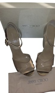 Jimmy Choo Wedge Sandal nude beige Platforms