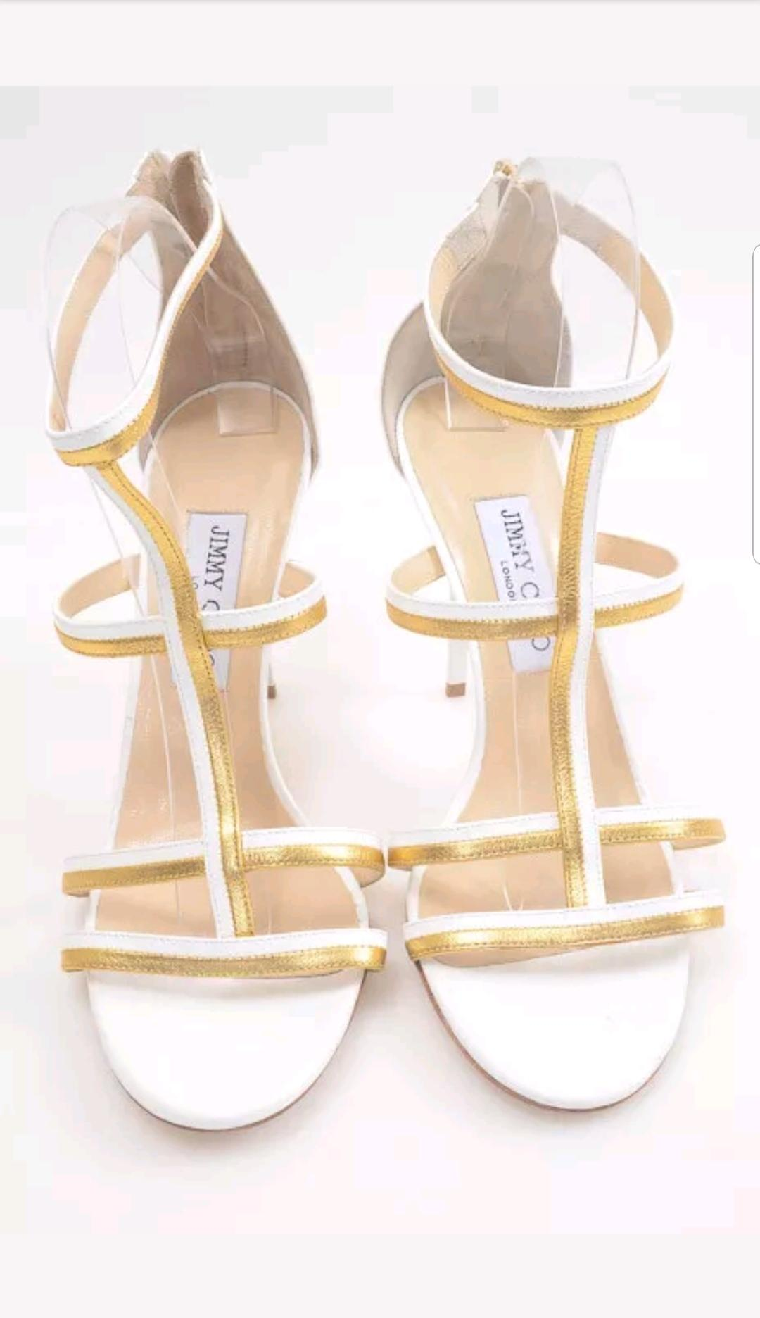 jimmy choo Blanc  & # ; thistle & # .r ; metallic patent - .r # pompes taille ue (environ ,) ordinaires (m, b) 565b6a