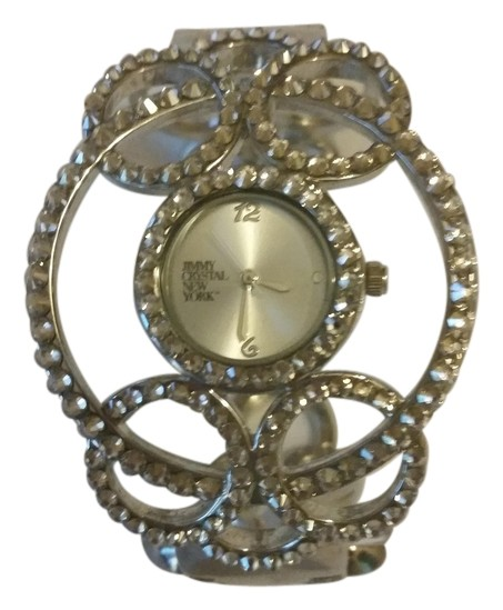 Jimmy Crystal New York Filigree Cuff Watch 72% Off ...