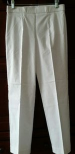 JM Collection Slimming Capri/Cropped Pants White