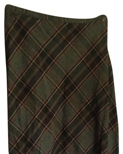 JM Collection Skirt Green, Plaid