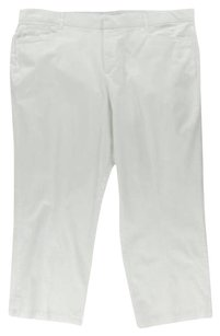 JM Collection Straight Pants White