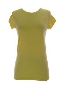 Joan Vass Womens Joanvass_top_c310021_signalyellow1_m T Shirt