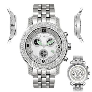 Joe Rodeo Mens Diamond Watch Joe Rodeo J2029 1.5 Ct White Illusion Dial