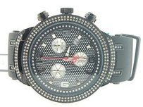 Joe Rodeo Mens Joe Rodeo Jojo Master Edition 242 Real Diamond Watch 2.20 Ct. Black Jjm90
