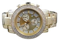 Joe Rodeo Mens Joe Rodeo Trooper Jojo Jojino Aqua Master Pave Diamond 14.5 Ct Watch Jtro9