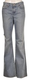 JOE'S Jeans Joes Womens Blue Light Wash Cotton Distressed Pants Flare Leg Jeans