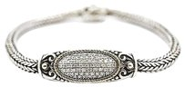 John Hardy John Hardy Bracelet Two-tone 18k Sterling Silver 1.0ct Diamond Grams 8.5