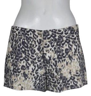 Joie Womens Casual Linen Animal Print Pants Shorts Gray, White, Beige, Charcoal