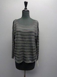 Joie Kathryn With See Through Stripe Accents Sm604 Sweater
