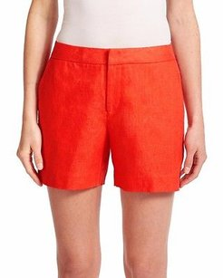 Joie Paradise Catia Linen Shorts Red