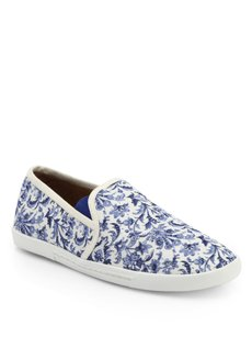 Joie Sneaker Slip On Floral Flats White Athletic