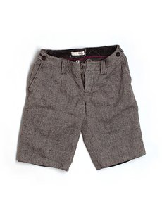 Joie Wool Tweed Dress Shorts Brown