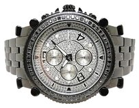 JoJino 2.25 Ct Mens Jojojojinojoe Rodeo Metal Black Diamond Watch Mj-1172b