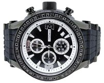 JoJino Ct Mens Jojojojinojoe Rodeo Metal Black Diamond Watch Mj-1075a