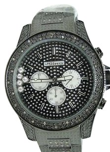 JoJino Mens Jojojojinojoe Rodeo 1.05ct Black Metal Real Diamond Watch Ij1007
