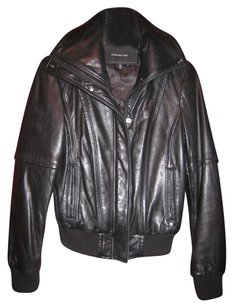 Jones New York Black Bommer Leather Jacket