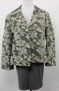 Jones New York Womens Gray Floral Multi-Color Jacket