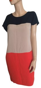 Jones New York short dress Orange Black Beige on Tradesy