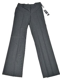 Jones New York 60 86 Gold Striped Straight Leg Dress Size Pants