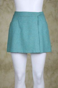 Joseph Womens Gray Wrap Skirt Blue