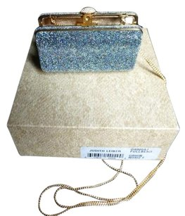 Judith Leiber Iridescent Blue Full Beaded Austrian Crystals Clutch