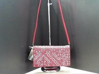 Judith Leiber Red Metallic Multi-Color Clutch