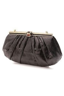 Judith Leiber Lizard Black Clutch