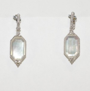 Judith Ripka JUDITH RIPKA VOGUE DIAMOND MOTHER OF PEARL DROP EARRINGS