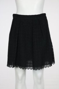 Juicy Couture Womens Cut Out Above Knee Casual Skirt Black
