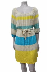 Juicy Couture Engineer Striped Shirred Multi Style Jgmu3562 Dress