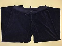 Juicy Couture Blue Terrycloth Wide Leg Drawstring Track 036a Pants