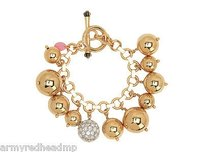 Juicy Couture Juicy Couture Gold Pave Crystal Bauble Cluster Statement Bracelet Yjru6567