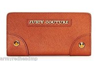 Juicy Couture Juicy Couture Sophia Cognac Saffiano Leather Continental Wallet Ysru2738