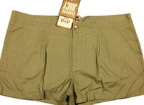 Juicy Couture Linen Viscose Shorts Green