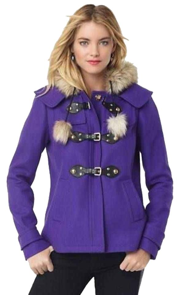 Juicy Couture $398 Pom Pom Pink Sz. Xl Pea Coat - 30% Off Retail